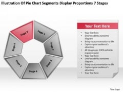 Pie Chart Segments Display Proportions 7 Stages Ppt PowerPoint Slides