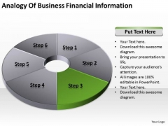 Pie Donut Diagram 6 Stages Professional Business Plan Template PowerPoint Templates