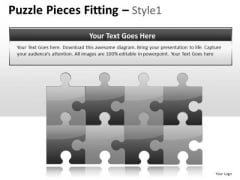 Piece Puzzle Pieces Fitted PowerPoint Slides And Ppt Templates