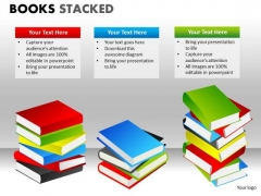Piles Of Books PowerPoint Ppt Templates