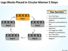 Placed In Circular Manner 5 Steps Business Plan For Dummies PowerPoint Templates