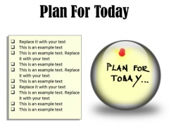 Plan For Today Business PowerPoint Presentation Slides C