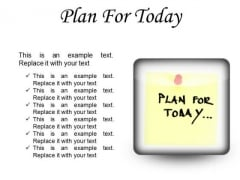 Plan For Today Business PowerPoint Presentation Slides S