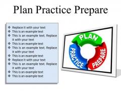 Plan Practice Business PowerPoint Presentation Slides F
