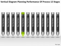 Planning Performance Of Process 12 Stages Business Outlines PowerPoint Templates