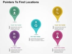 Pointers To Find Locations PowerPoint Templates