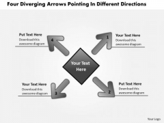 Pointing Different Directions Relative Circular Flow Arrow Process PowerPoint Templates