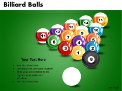 Pool Billiard Balls PowerPoint Slides And Ppt Diagram Templates