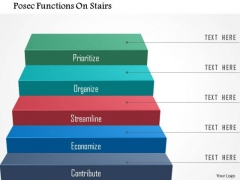 Posec Functions On Stairs PowerPoint Template