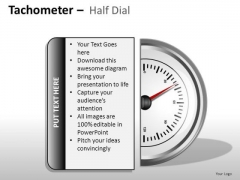 Position Tachometer Half Dial PowerPoint Slides And Ppt Diagram Templates