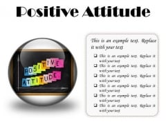 Positive Attitude Education PowerPoint Presentation Slides C
