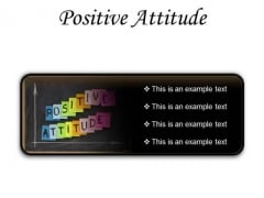 Positive Attitude Education PowerPoint Presentation Slides R