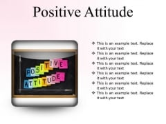 Positive Attitude Education PowerPoint Presentation Slides S