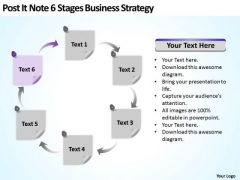 Post It Note 6 Stages Business Development Strategy Ppt Plan PowerPoint Templates