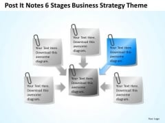 Post It Notes 6 Stages Business Concepts Theme Ppt Fashion Plan PowerPoint Slides