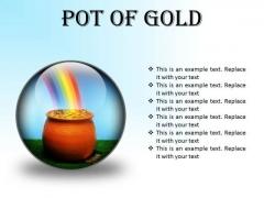 Pot Of Gold Money PowerPoint Presentation Slides C