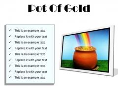 Pot Of Gold Money PowerPoint Presentation Slides F