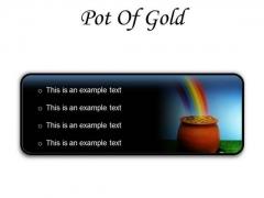 Pot Of Gold Money PowerPoint Presentation Slides R