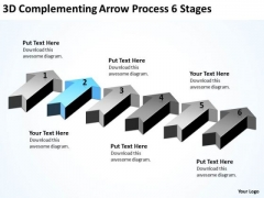 Power Point Arrows 3d Complementing Process 6 Stages PowerPoint Templates