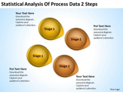 Power Point Arrows Statistical Analysis Of Process Data 2 Steps PowerPoint Templates