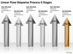 Power Point Arrows Stepwise Process 6 Stages Ppt PowerPoint Templates Backgrounds For Slides