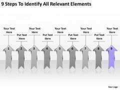 PowerPoint Arrows 9 Steps To Identify All Relevant Elements Ppt Slides