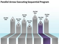 PowerPoint Arrows Parallel Executing Sequential Program Slides