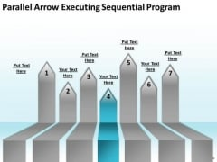 PowerPoint Arrows Parallel Executing Sequential Program Templates