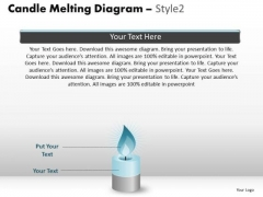 PowerPoint Backgrounds Business Candle Melting Ppt Layout