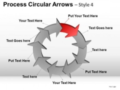 PowerPoint Backgrounds Business Competition Process Circular Arrows Ppt Design