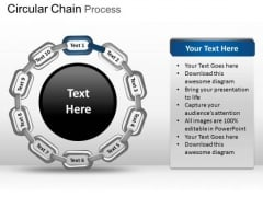 PowerPoint Backgrounds Chart Circular Chain Ppt Design