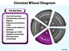 PowerPoint Backgrounds Chart Circular Wheel Ppt Design