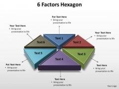 PowerPoint Backgrounds Chart Factors Hexagon Ppt Slide Designs
