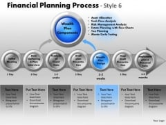 PowerPoint Backgrounds Chart Financial Planning Ppt Layout