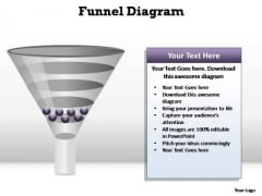 PowerPoint Backgrounds Chart Funnel Diagram Ppt Slide