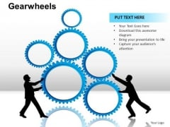 PowerPoint Backgrounds Chart Gear Wheel Ppt Backgrounds