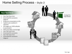 PowerPoint Backgrounds Chart Home Selling Ppt Slide