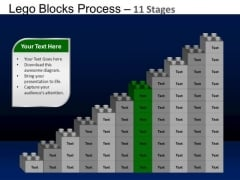 PowerPoint Backgrounds Chart Lego Blocks Ppt Template