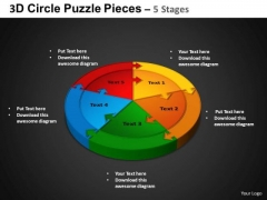 PowerPoint Backgrounds Circle Chart Circle Puzzle Diagram Ppt Process