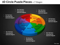PowerPoint Backgrounds Circle Chart Circle Puzzle Diagram Ppt Theme