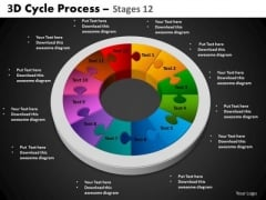 PowerPoint Backgrounds Circle Chart Cycle Process Ppt Process