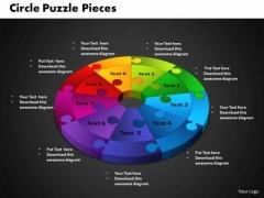 PowerPoint Backgrounds Circle Puzzle Diagram Ppt Templates