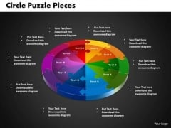 PowerPoint Backgrounds Circle Puzzle Marketing Ppt Theme