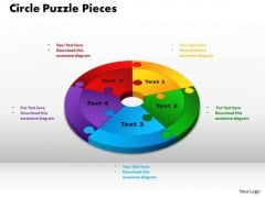 PowerPoint Backgrounds Circle Puzzle Pieces Chart Ppt Slide