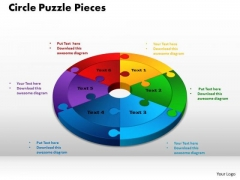 PowerPoint Backgrounds Circle Puzzle Pieces Image Ppt Template