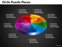 PowerPoint Backgrounds Circle Puzzle Process Ppt Backgrounds