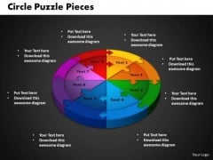 PowerPoint Backgrounds Circle Puzzle Strategy Ppt Design