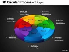 PowerPoint Backgrounds Circular Chart Circular Process Ppt Presentation