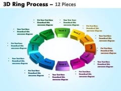 PowerPoint Backgrounds Circular Chart Ring Process Ppt Process