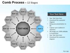 PowerPoint Backgrounds Circular Flow Diagram Ppt Slides